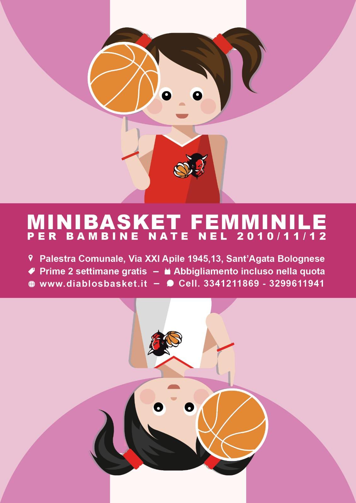 Minibasket rosa Diablos